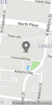 Mapa de 1350 Concourse Ave en Memphis