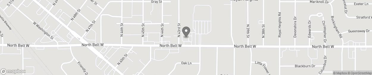 Map of 4213 North Belt W in Belleville