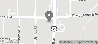 Map of 1155 S. Bellevue Blvd in Memphis