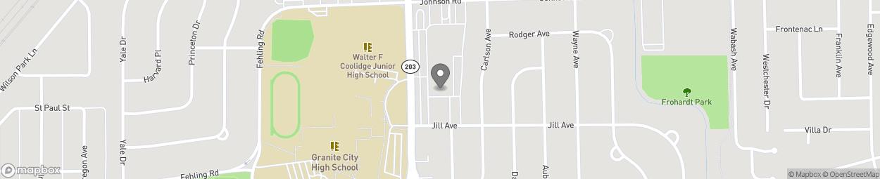 Map of 3216 Nameoki Rd in Granite City