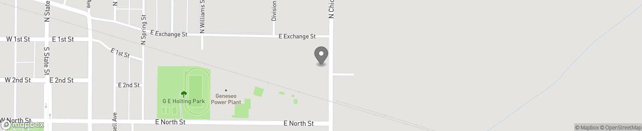Carte de 109 South Chicago Street à Geneseo