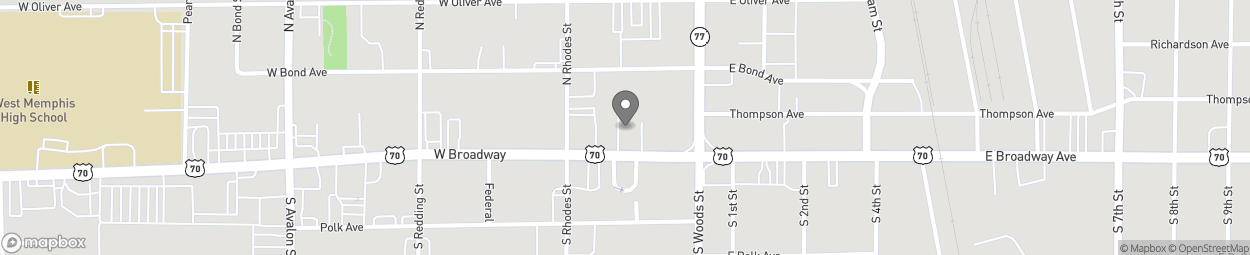 Map of 113 W Broadway in West Memphis