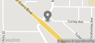 Map of 3280 Medgar Evers Blvd in Jackson
