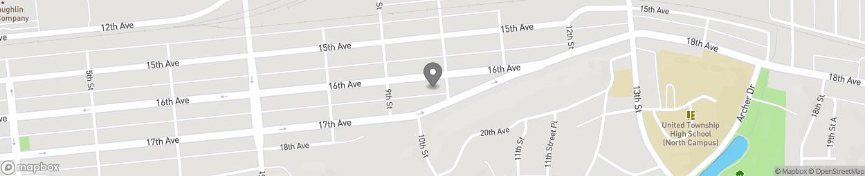 Carte de 936 16th Avenue à East Moline