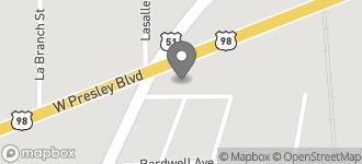Map of 100 E. Presley Blvd. in McComb