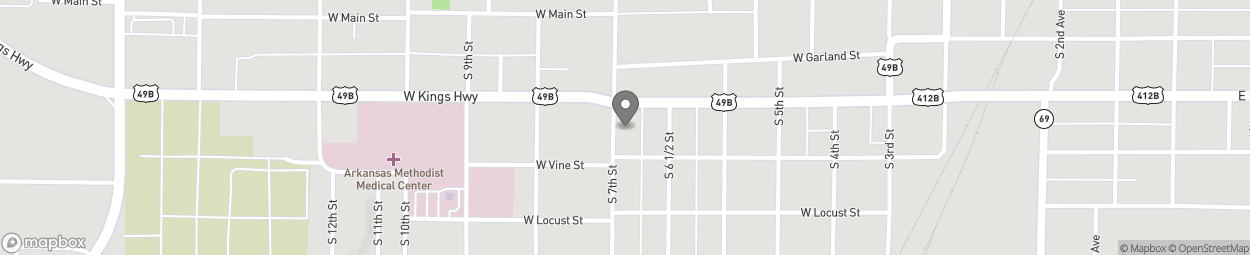 Map of 626 W Kingshighway in Paragould
