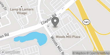 Map of 1030 Woods Mill Drive in Town And Country