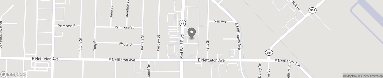 Map of 1324 Stadium Boulevard in Jonesboro
