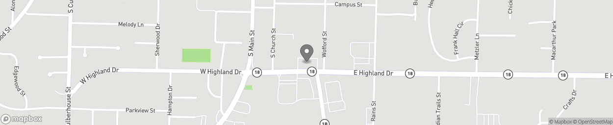Map of 240 East Highland Drive in Jonesboro