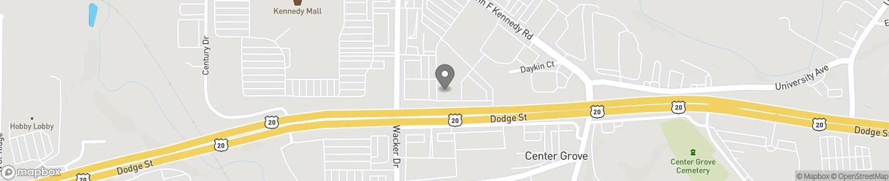 Map of 806 Wacker Drive in Dubuque