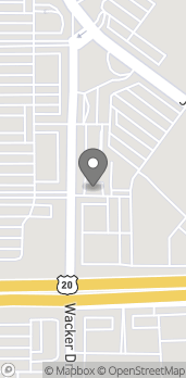 Map of 808 Wacker Dr in Dubuque