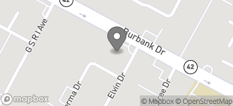 Map of 9958 Burbank Dr in Baton Rouge