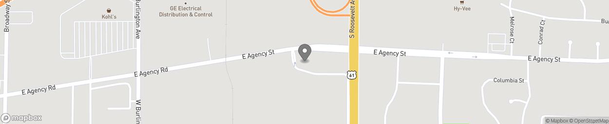 Map of 3317 Agency St in Burlington