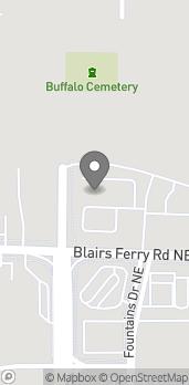Map of 1950 Blairs Ferry Rd in Hiawatha