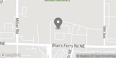 Map of 1950 Blairs Ferry Rd in Hiawatha