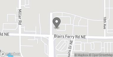 Mapa de 1950 Blairs Ferry Rd NE en Cedar Rapids