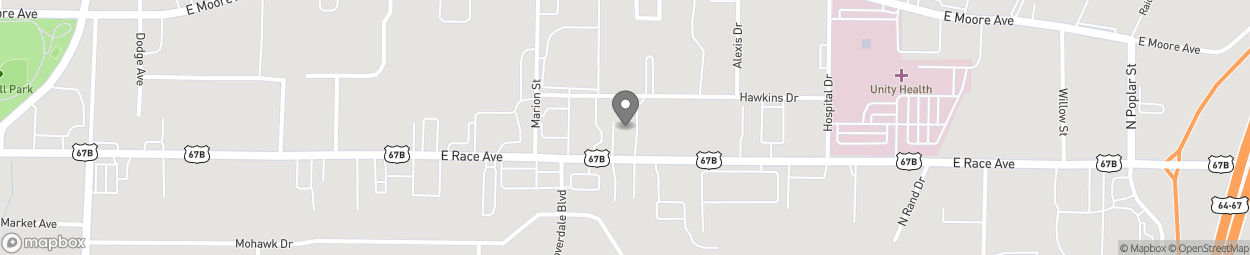 Map of 2806-A Race Street in Searcy
