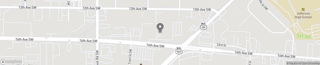 Map of 3000 16th Ave SW in Cedar Rapids