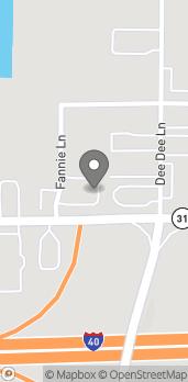 Mapa de 45 Fannie Lane en Lonoke