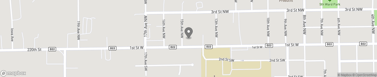 Map of 1414 1st Street W in Independence