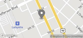 Map of 212 SE Evangeline Thruway in Lafayette