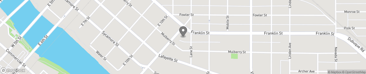 Map of 1314 Franklin Street in Waterloo