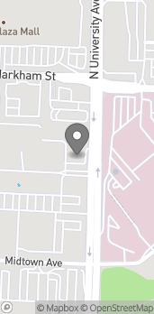 Mapa de 300 S University Ave en Little Rock