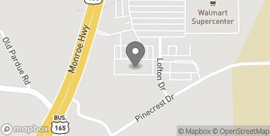 Mapa de 3628 Monroe Hwy en Pineville
