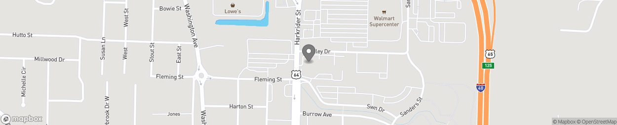 Map of 2110 Harkrider Street in Conway