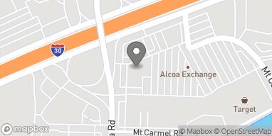 Mapa de 7409 Alcoa Rd en Bryant