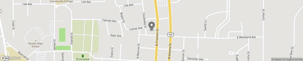 Map of 801 N Trenton Avenue in Ruston