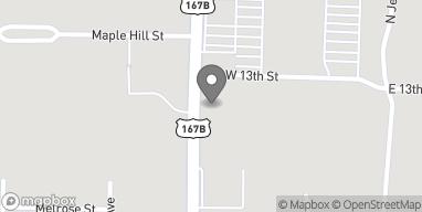 Map of 1801 N West Ave in El Dorado