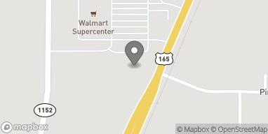 Mapa de 1950 Hwy 165 en Oakdale
