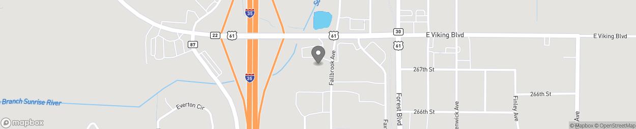 Carte de 26664 Fallbrook Avenue à Wyoming