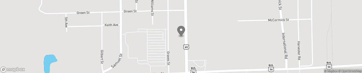 Carte de 950 South Washington Street à Chillicothe