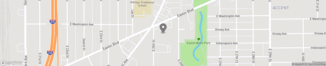 Map of 2519 Easton Blvd in Des Moines
