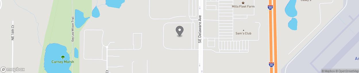 Carte de 4598 SE Delaware Ave à Ankeny