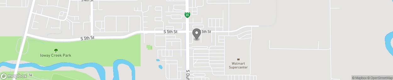 Map of 510 South Duff Avenue in Ames