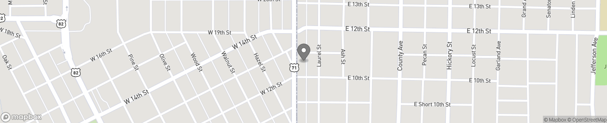 Map of 1010 N State Line Avenue in Texarkana