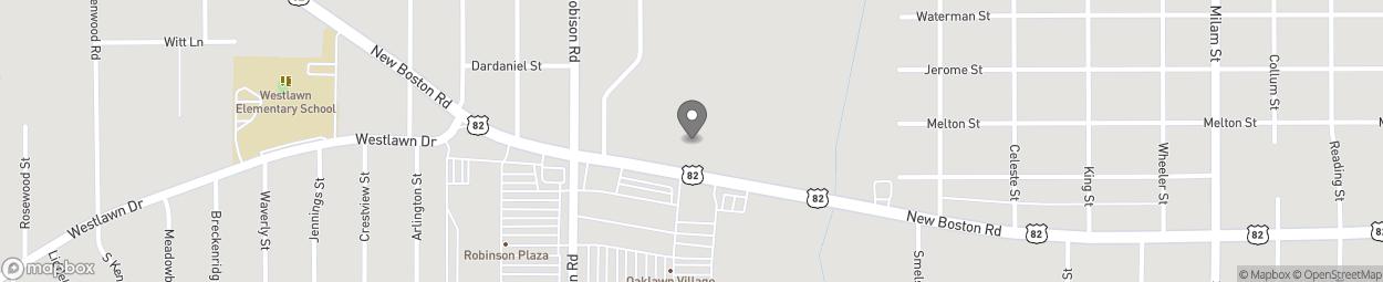 Map of 2802 New Boston Road in Texarkana