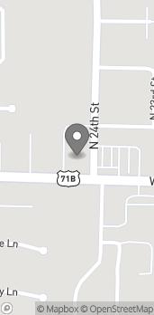Mapa de 2401 W Walnut St en Rogers