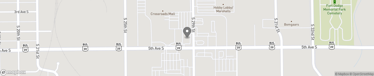 Map of 2824 5th Ave S in Fort Dodge