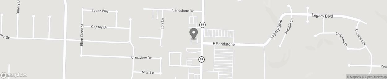 Map of 2223 Fayetteville Road in Van Buren
