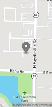 Map of 2025 Fayetteville Road in Van Buren