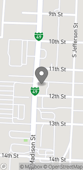 Map of 1119 S Madison St in Webb City