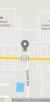 Map of 3287 Hwy 412 E in Siloam Springs