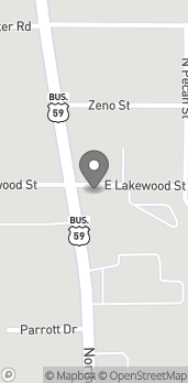 Map of 3402 North St in Nacogdoches