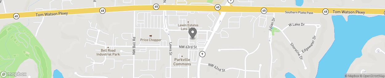 Carte de 8720 North West 63rd Street à Parkville
