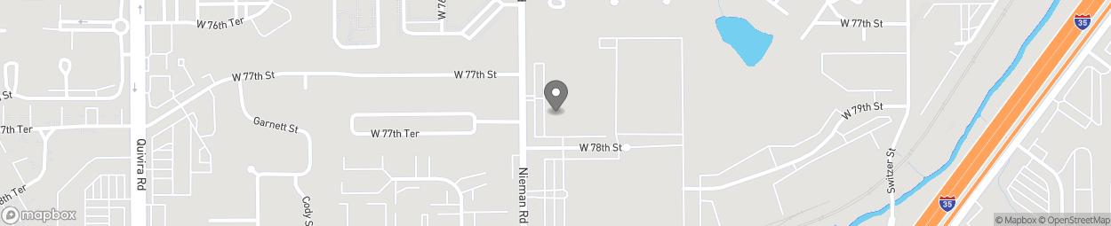 Carte de 7751 Nieman Road à Shawnee