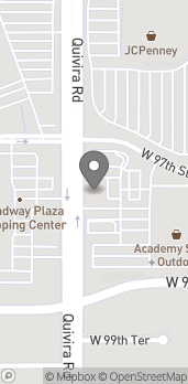 Map of 9761 Quivira Rd in Overland Park